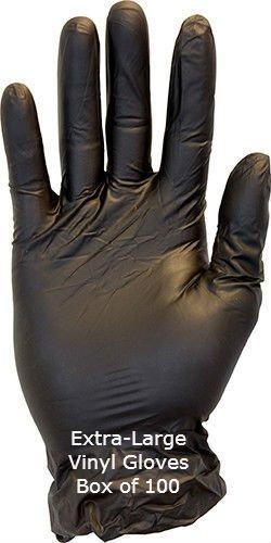 Just Sculpt Vinyl Gloves Black