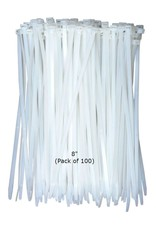 Just Sculpt Cable Ties HD White Nylon 8'' (100 pcs)