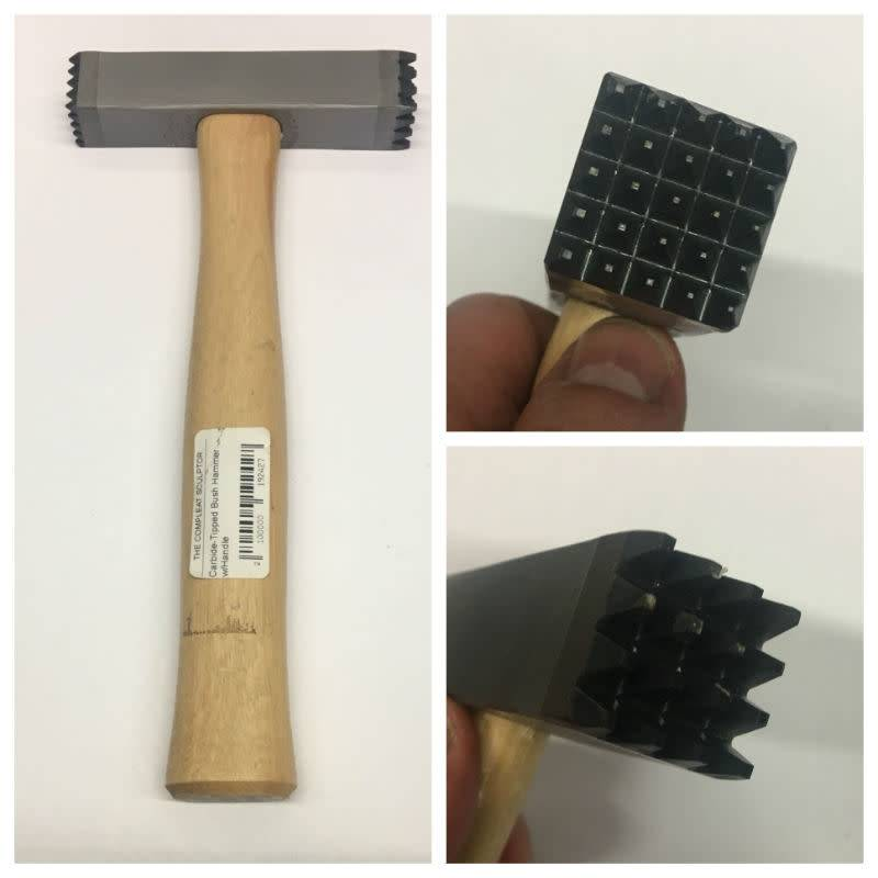 Trow & Holden Carbide-Tipped Bush Hammer w/Handle