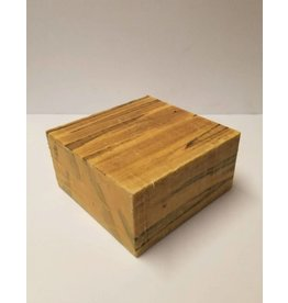 Wood Ambrosia Maple Block 6x6x3
