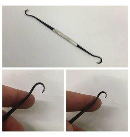 Milani Italian Steel Double Hook Serrated Wax Tool #A034 Small