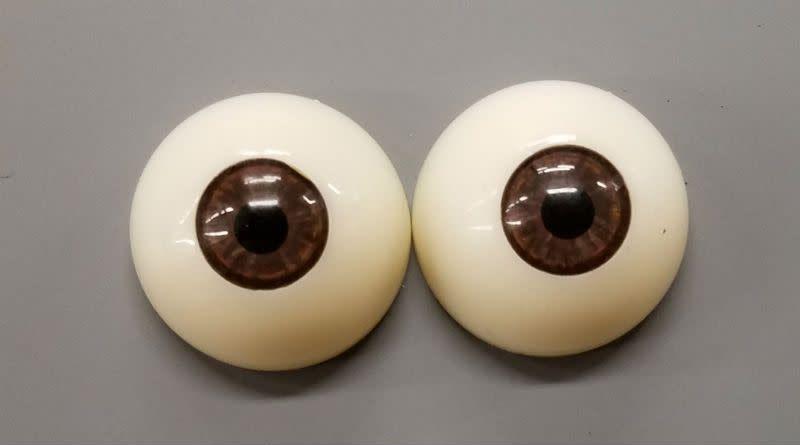 Acrylic Eyes 30mm Brown (Pair)