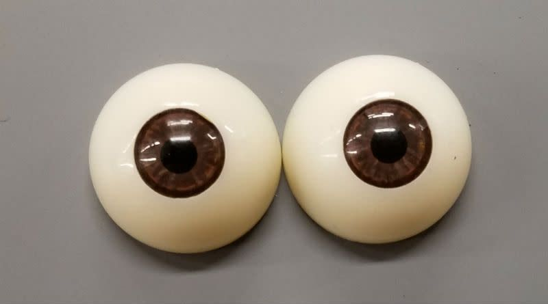 Just Sculpt Acrylic Eyes 30mm Brown (Pair)