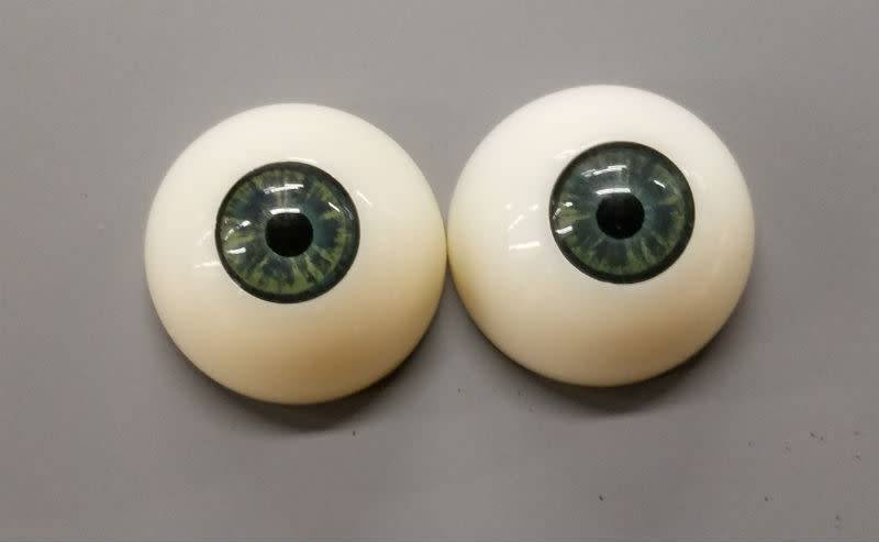 Acrylic Eyes 30mm Green (Pair)