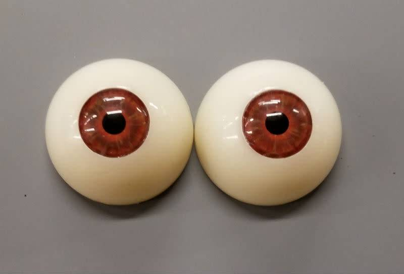 Acrylic Eyes 30mm Hazel (Pair)