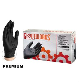 Just Sculpt Vinyl Gloves Black