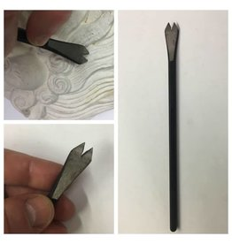 """Sculpture House Steel Hand Mini 2 Tooth Chisel - 3/8"""""""