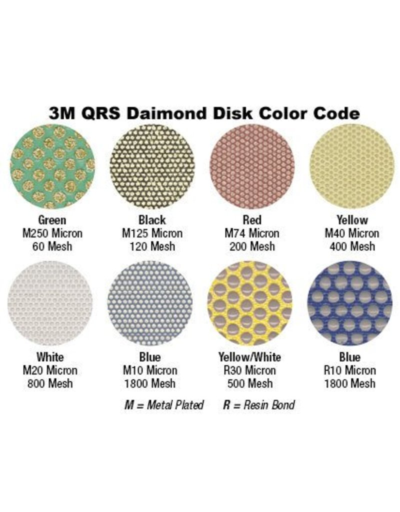 3M QRS Velcro Diamond Disc