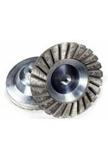 "Fine 100/120 grit 4"" Sintered Turbo Diamond Grinding Wheel"