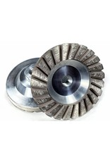 "Coarse 30/40 grit 4"" Sintered Turbo Diamond Grinding Wheel"