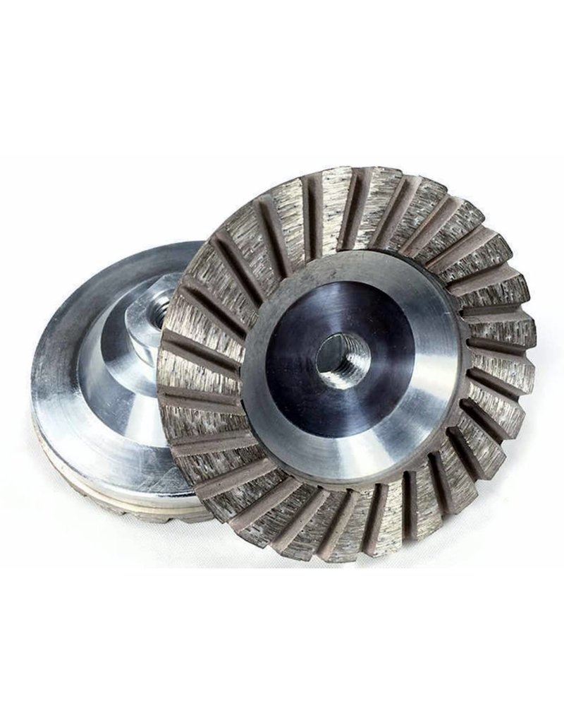 "Medium 60/80 grit 4"" Sintered Turbo Diamond Grinding Wheel"