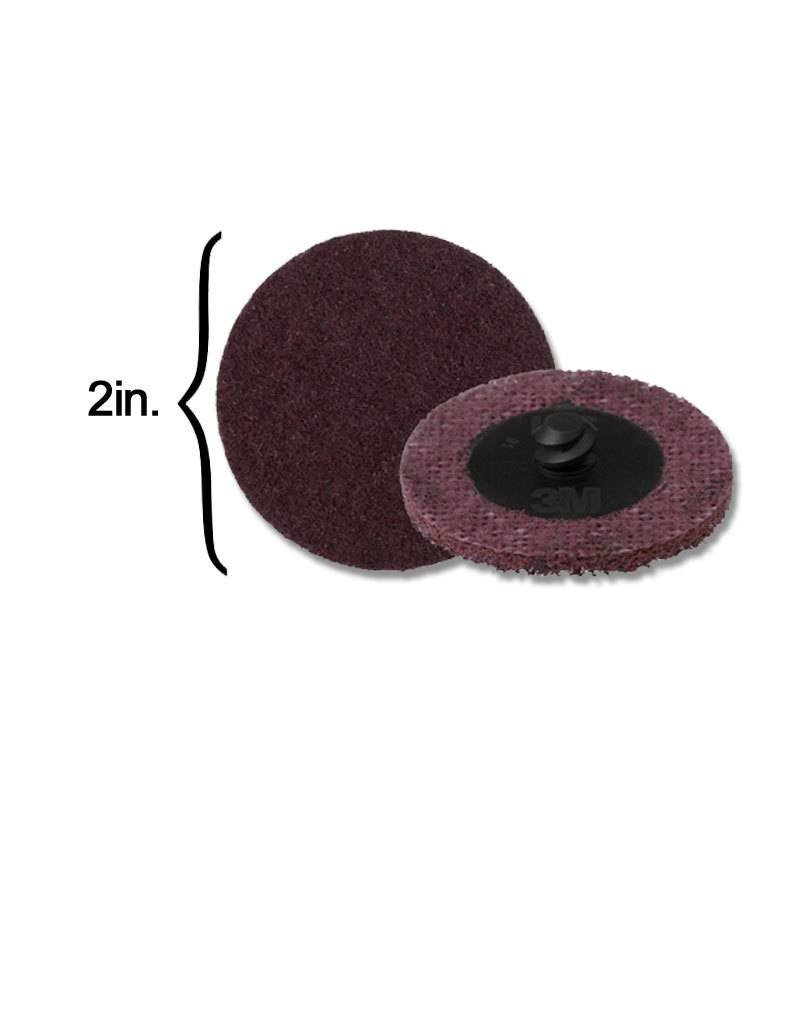 3M Scotch-Brite Disk 2'' ROLOC Medium Maroon (10 Pack)