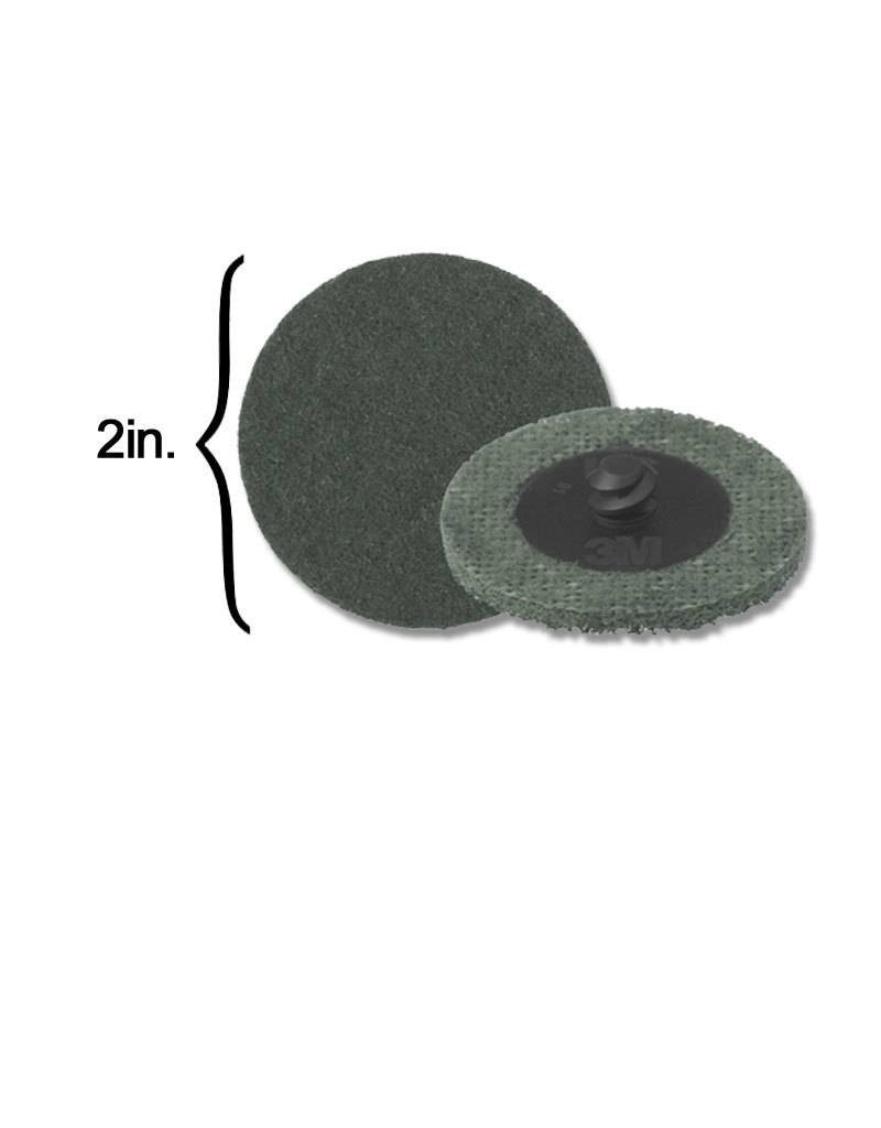 3M Scotch-Brite Disk 2'' ROLOC Super Fine Grey (10 Pack)