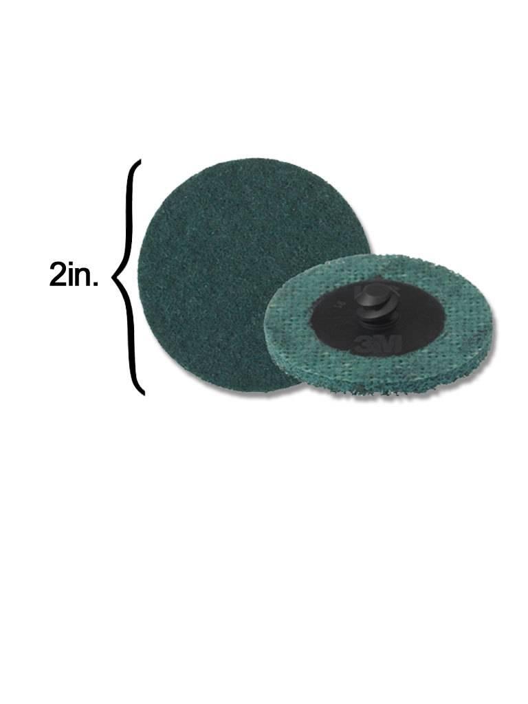 3M Scotch-Brite Disk 2'' ROLOC Very Fine Blue (10 Pack)