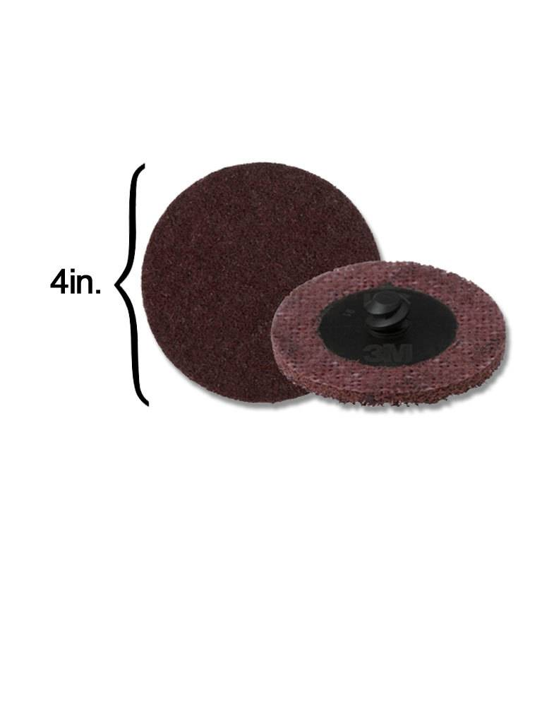 3M Scotch-Brite Disk 4'' ROLOC Medium Maroon (10 Pack)