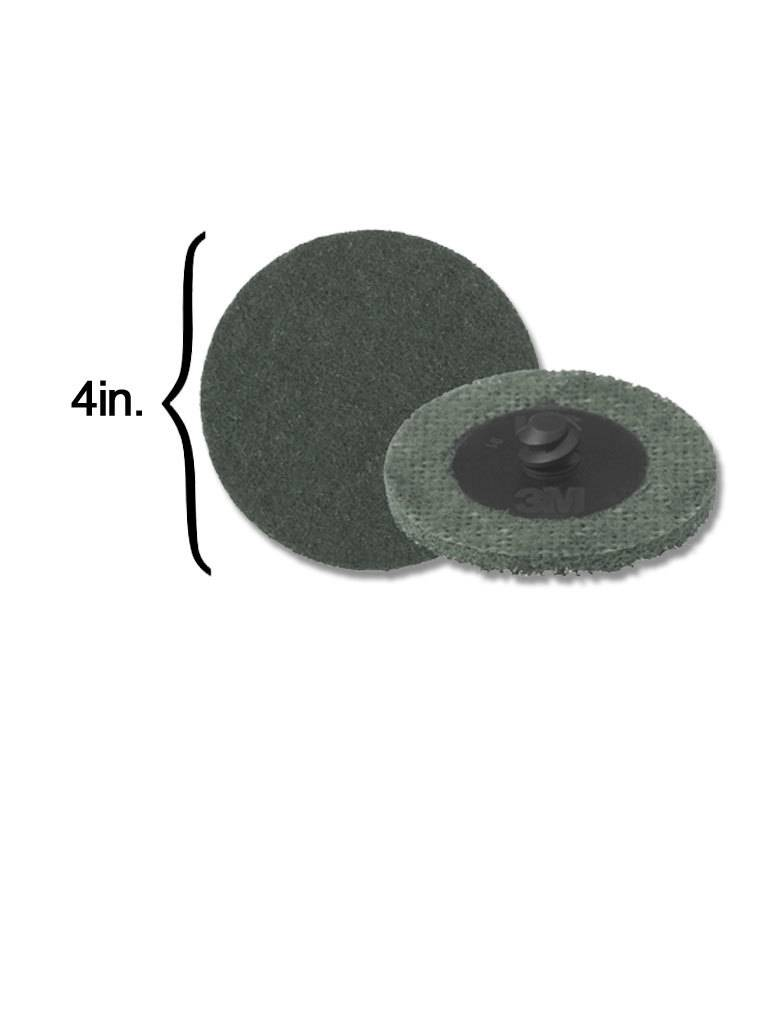 3M Scotch-Brite Disk 4'' ROLOC Super Fine Grey (10 Pack)