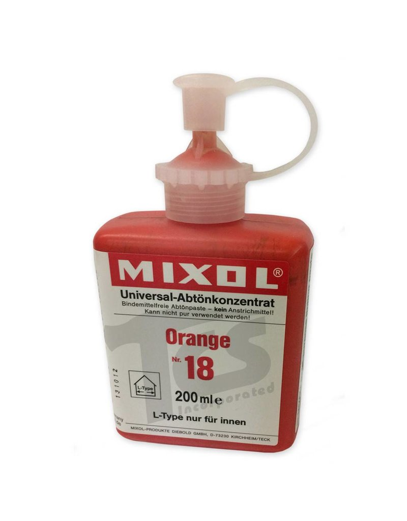 Mixol #18 Orange (all sizes)