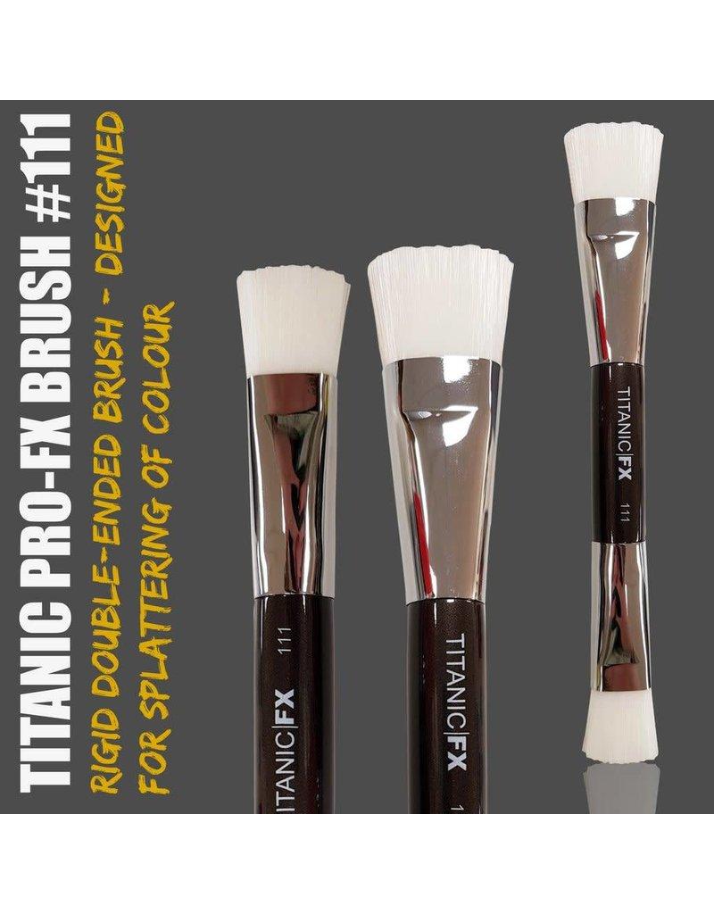 Titanic FX Pro-FX Brush 111 - Double-ended Splatter Brush