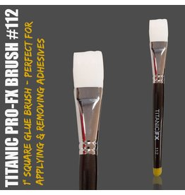 "Titanic FX Pro-FX Brush No.112  - 1"" Square Adhesive / Remover Brush"