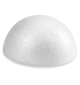White Bead Foam Half Ball 3x1-1/2''
