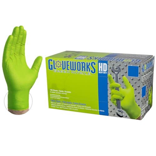 Just Sculpt Nitrile HD Green Gloves Large Box