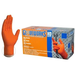 Just Sculpt Nitrile HD Orange Gloves Large Box