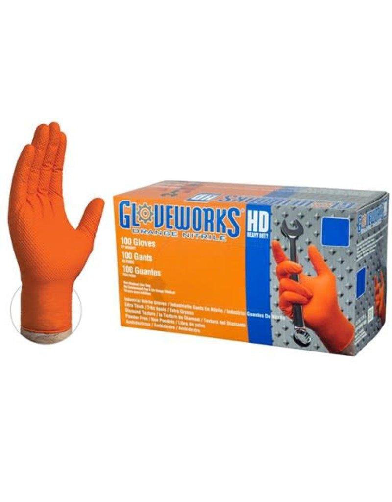 Just Sculpt Nitrile HD Orange Gloves Large Box