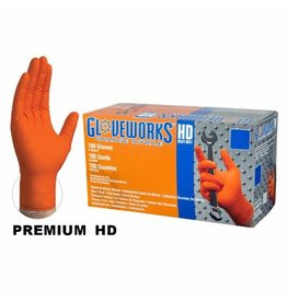 Just Sculpt Nitrile HD Orange Gloves X-Large Box