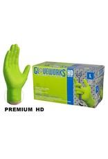 Just Sculpt Nitrile HD Green Gloves X-Large Box