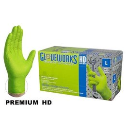 Just Sculpt Nitrile HD Green Gloves X-Large Box
