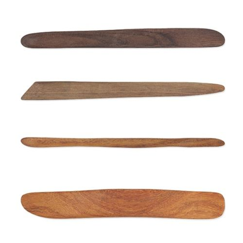 Sculpture House Hardwood Modeling Tools - Set of 4 Tools
