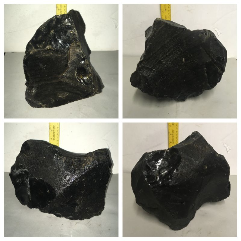17lb Obsidian 9x6x6 #012001