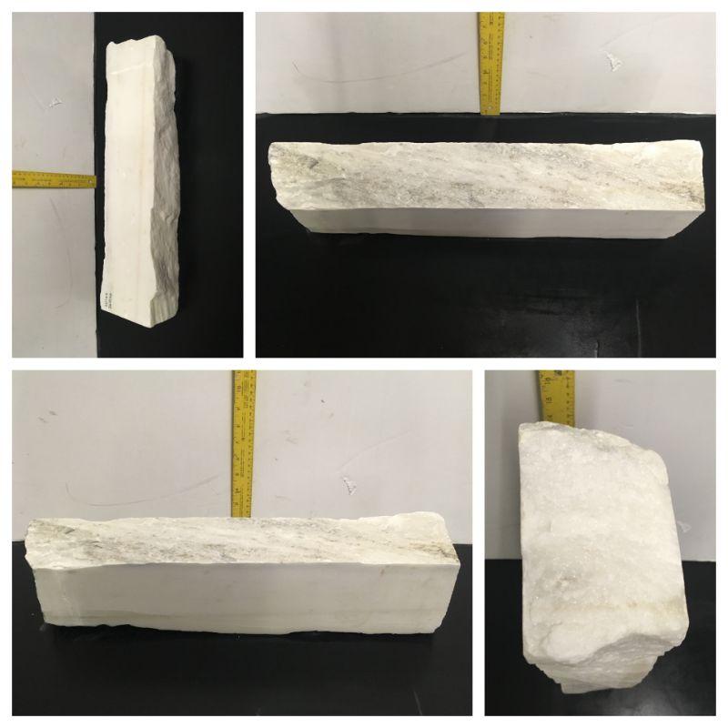 30lb Statuario Puro Bianco Marble 21x4x3 #361016