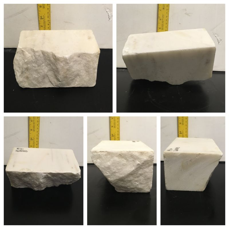 9lb Statuario Puro Bianco Marble 7x4x3 #361005