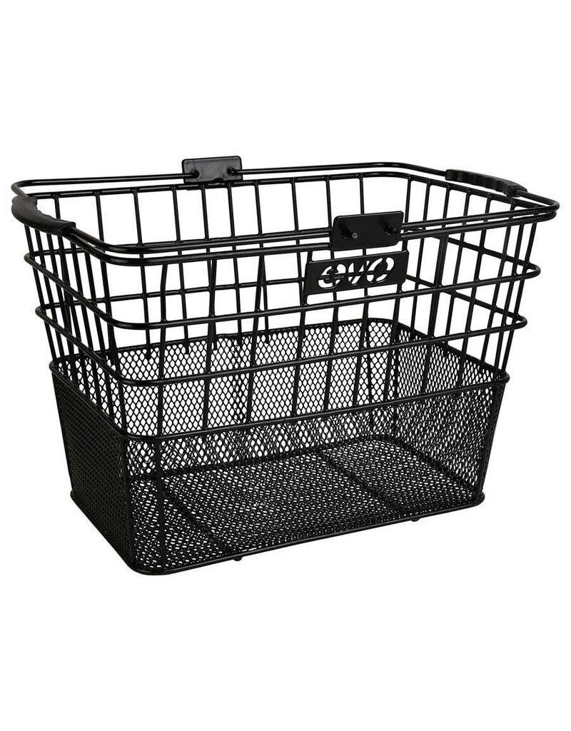 Evo, Panier avant E-Cargo dual mesh Noir 35x25x24 cm