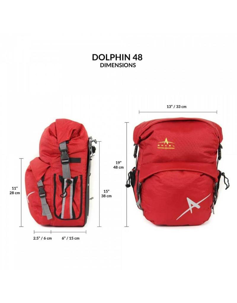 Arkel, Sacoches arrière Dauphin 48 (paire) Gris 48L