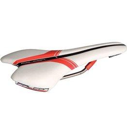 PRO, Selle Falcon Ti, microfiber White/Red 132 mm