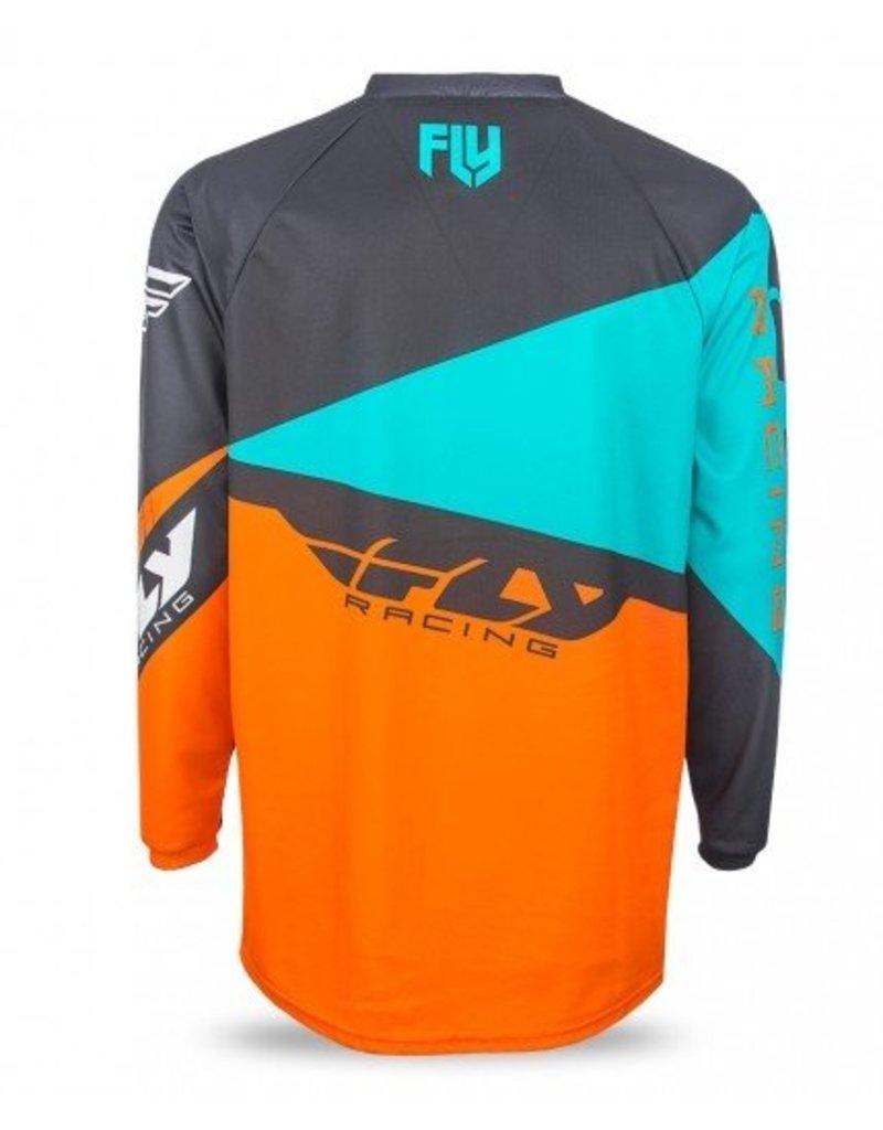 Fly Racing, Jersey manche longue F-16 Jeunes Orange/Turquoise