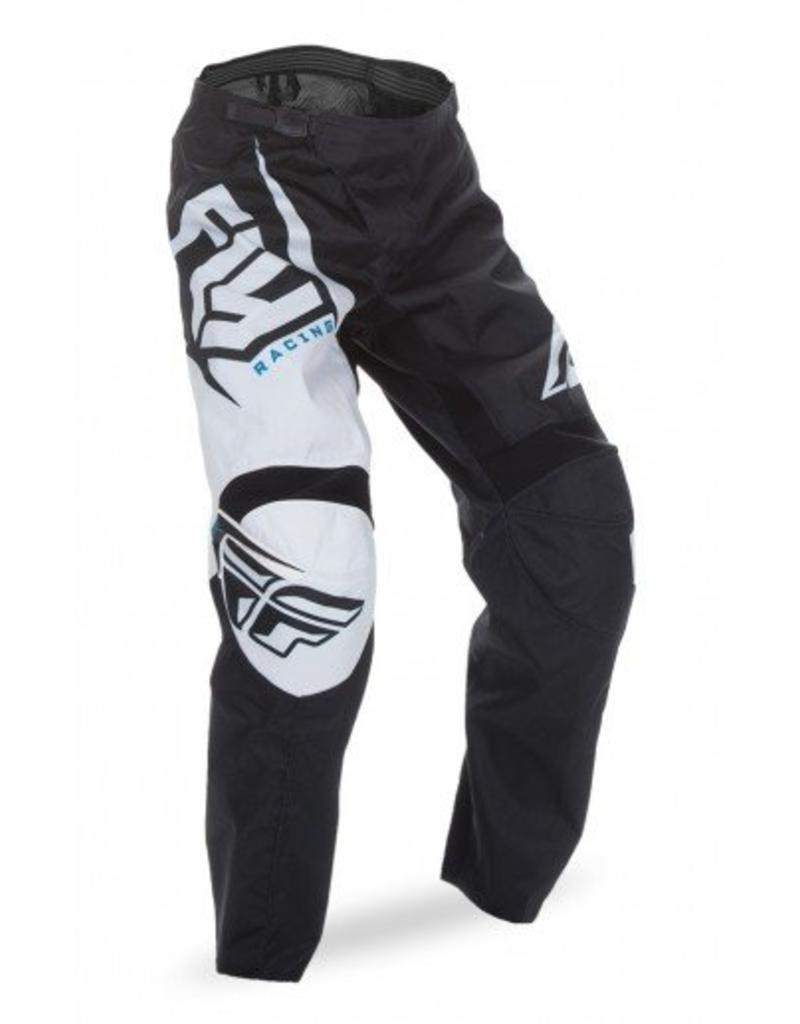Fly Racing, Pantalon F-16 jeunes Noir/Blanc