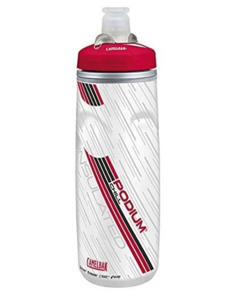 Camelbak, Bidon Podium Chill, Rouge/blanc 600ml / 21oz