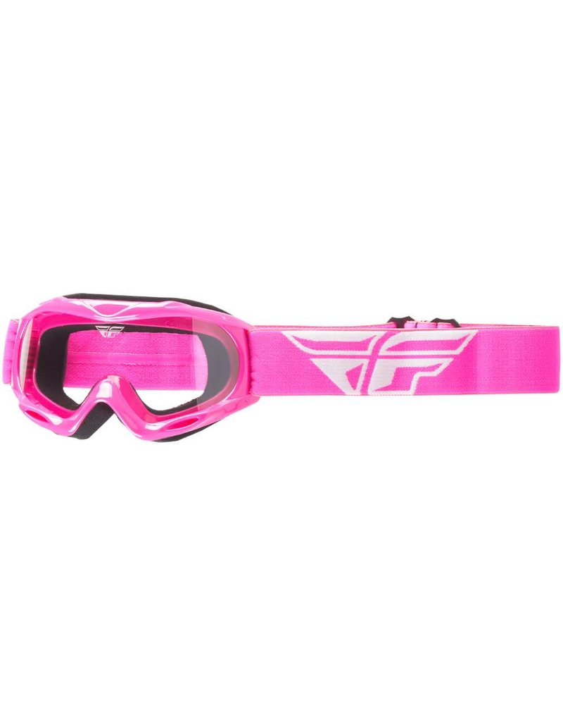 Fly Racing Fly Racing, Focus Race Goggles Jeunes (Clear/Pink)