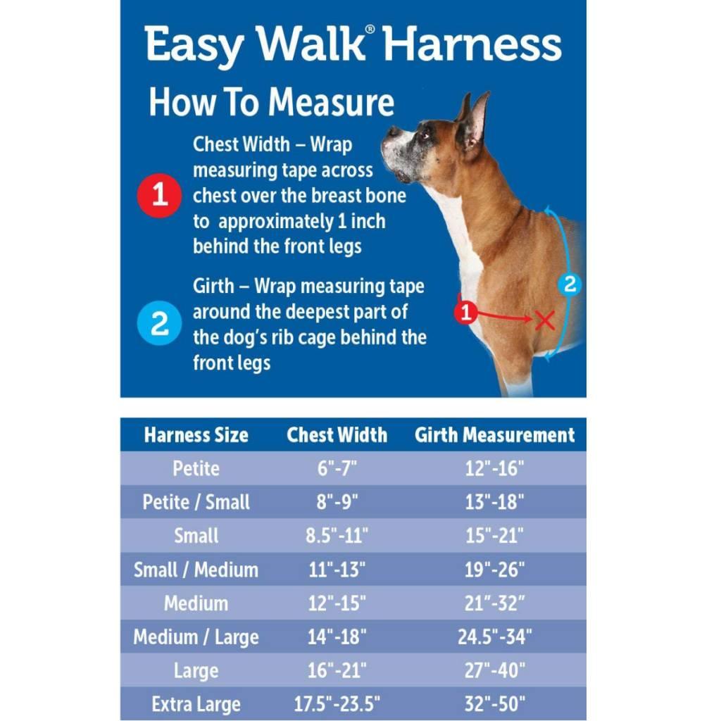 Easy Walk Harnais - Noir L