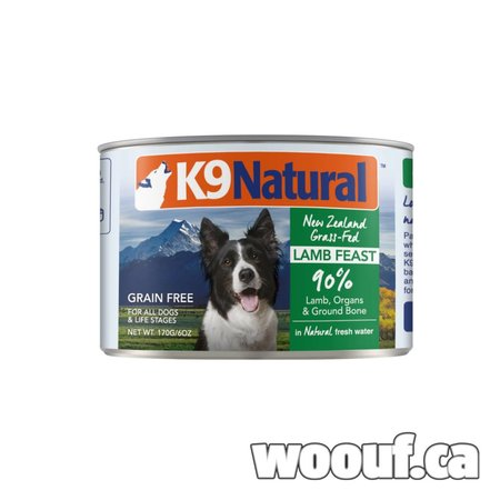 K9 Natural Can - Agneau / Lamb 6oz
