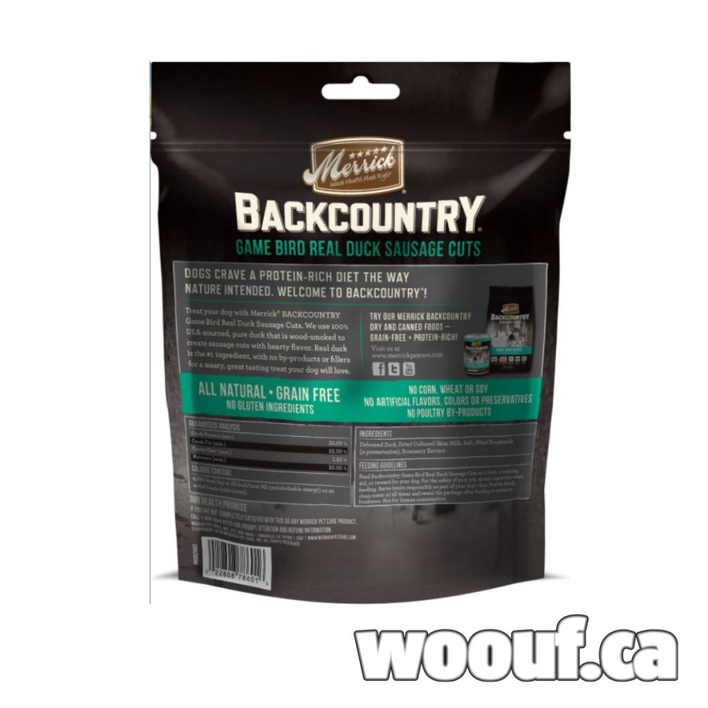 M. Backcountry - Game Bird Real Duck Sausage Cuts