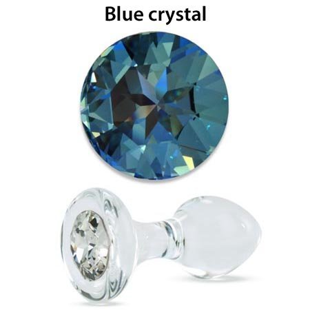 Crystal Delights Crystal Delights Small Clear Jeweled Plug