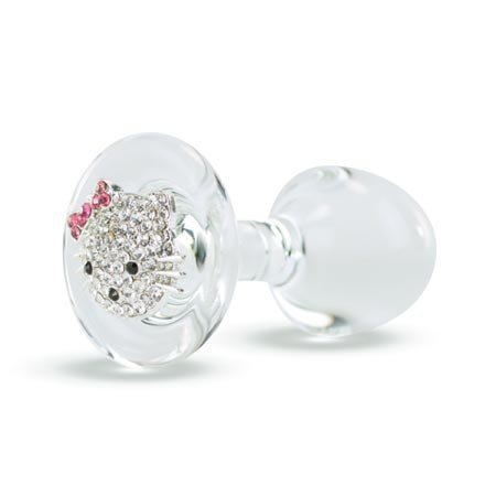 Crystal Delights Hello Kitty Plug, Clear