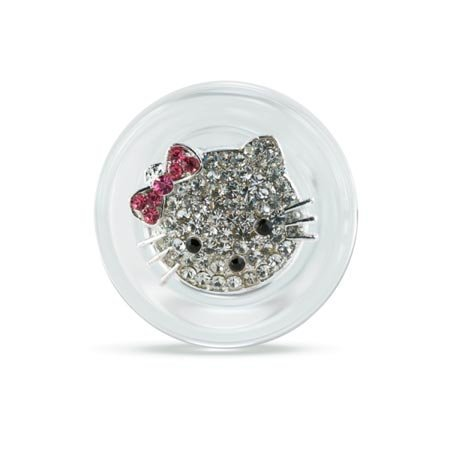 Crystal Delights Crystal Delights Hello Kitty Plug, Clear