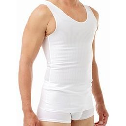 Underworks Cotton Lined Power Chest Binder Tank 977- Orin, White