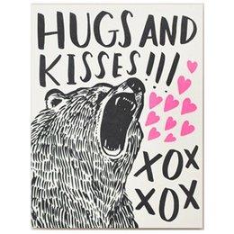 HelloLucky Bear Hugs Greeting Card