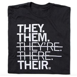 Raygun They Them Their T-shirt, Classic Cut
